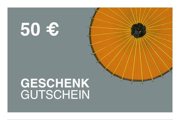 50 € Online-Geschenkgutschein