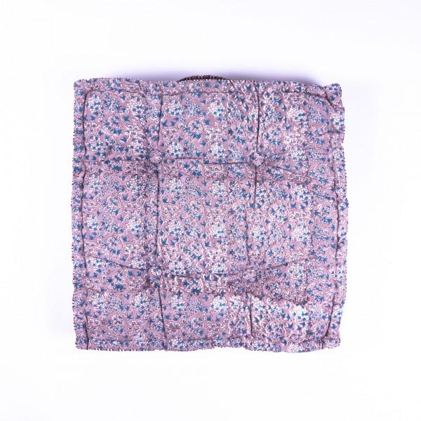 """Sitzkissen """"Kussum"""", manuelles Blockprintverfahren, L 48 cm, B 48 cm, H 10 cm"""