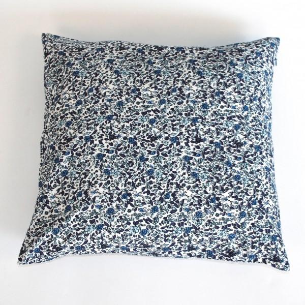 """Kissenhülle """"Alva"""", blau/weiß, L 40 cm, B 40 cm"""