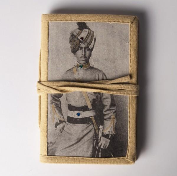 "Notizbuch ""Yoddha"", beige, B 10 cm, H 15 cm"