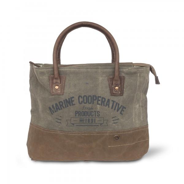 Tasche 'Marine Coop', Braun/Grau, T 43 cm, B 35 cm