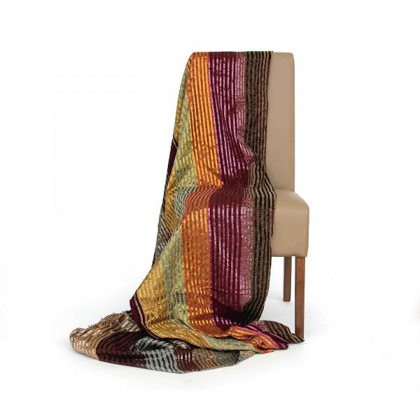Decke aus Sabra, oliv, T 300 cm, B 200 cm