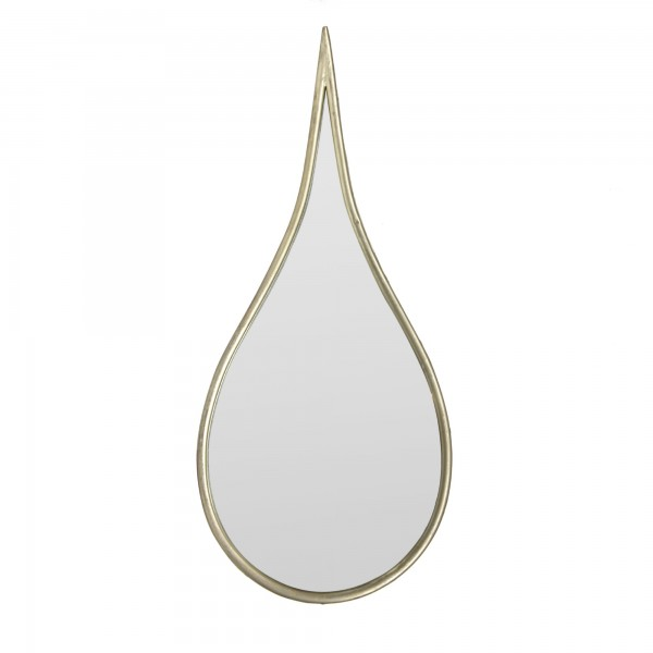 Spiegel 'Gouttes', silbergrau, T 3 cm, B 32 cm, H 73 cm