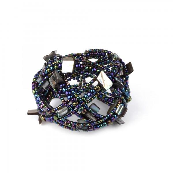 Armband 'Paua', multicolor, Ø 9 cm, H 9 cm
