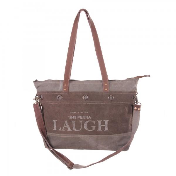 """Umhängetasche """"Laugh"""", grau/braun, B 51 cm, H 36 cm"""