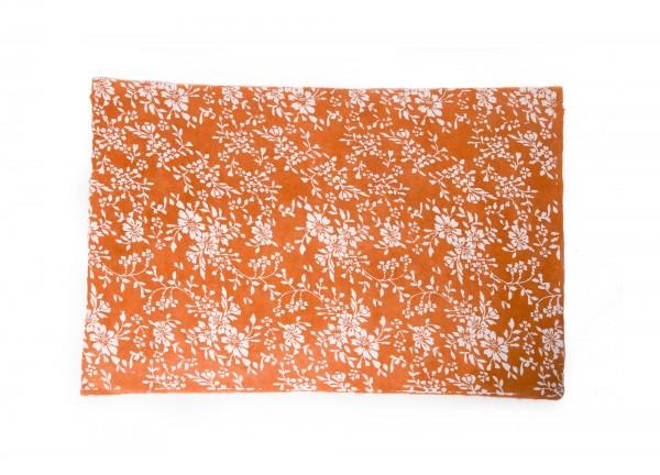 "Geschenkpapier ""Blumen sand"", handgeschöpft, L 51 cm, B 76 cm"