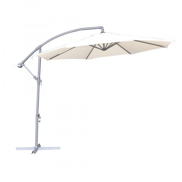 """Sonnenschirm """"Cabras"""", schwenk- und ausfahrbar, beige, Ø 3 m"""