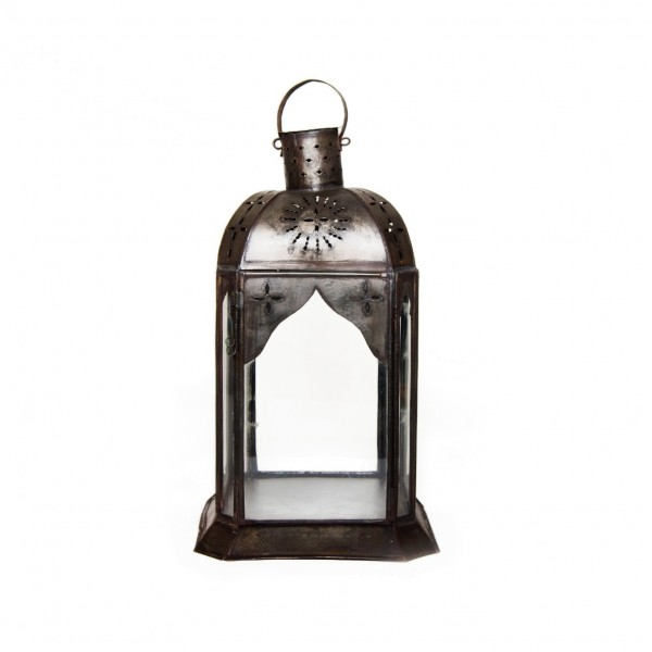 "Laterne ""Badawi"", antik-rost, L 20 cm, B 20 cm, H 35 cm"