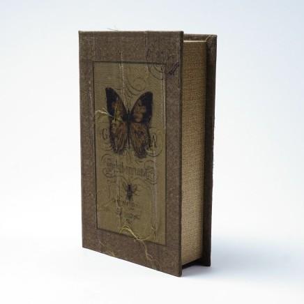 "Buch-Tresor ""Butterfly"", L 5 cm, B 13 cm, H 21 cm"