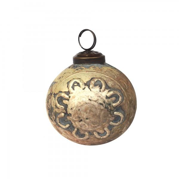 Anhänger Kugel Ornament, gold, Ø 8 cm, H 8 cm