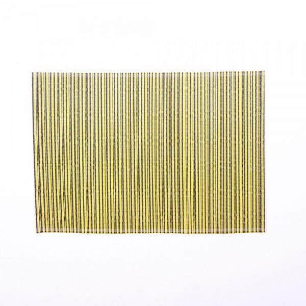 Tischset aus Bambus, gelb/schwarz, L 33 cm, B 48 cm