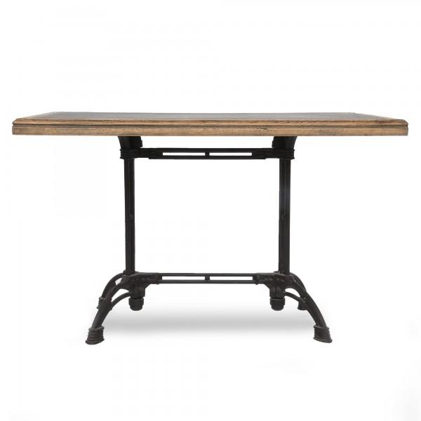 Tisch 'Kamalia', braun, schwarz, T 80 cm, B 120 cm, H 76 cm