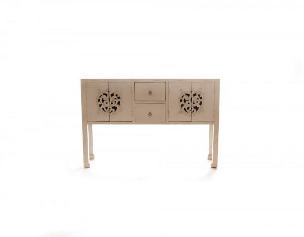 Sideboard 'Sukomvit', 4 Türen, 2 Schubladen, weiß, T 40 cm, B 150 cm, H 100 cm
