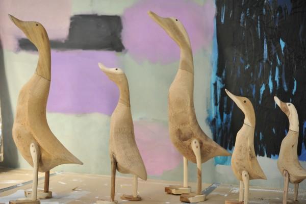 Ente 'Halus' aus Wurzelholz, groß, H ca. 55-60 cm