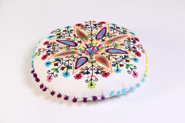 Sitzkissen 'Feathers', multicolor, Ø 40 cm, H 6 cm