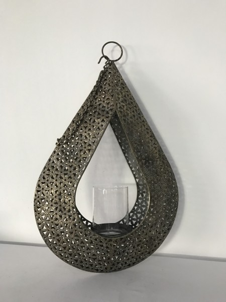 Hängekerzenhalter 'OM', metall, T 10 cm, B 32 cm, H 51 cm