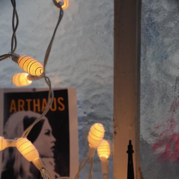"""Lichterkette """"Kokon"""", mit 35 Leuchten, weiß, L 470 cm"""