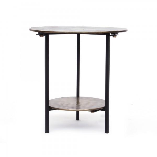 Tisch 'Savannah', messing, schwarz, Ø 39 cm, H 41 cm