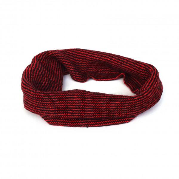 Stirnband, rot, schwarz, Ø 20 cm, H 20 cm