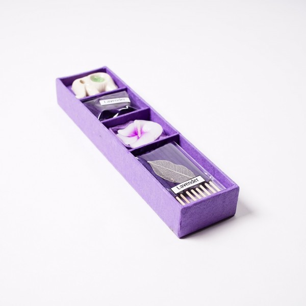 Mini-Räucherset 'Lavender', lila