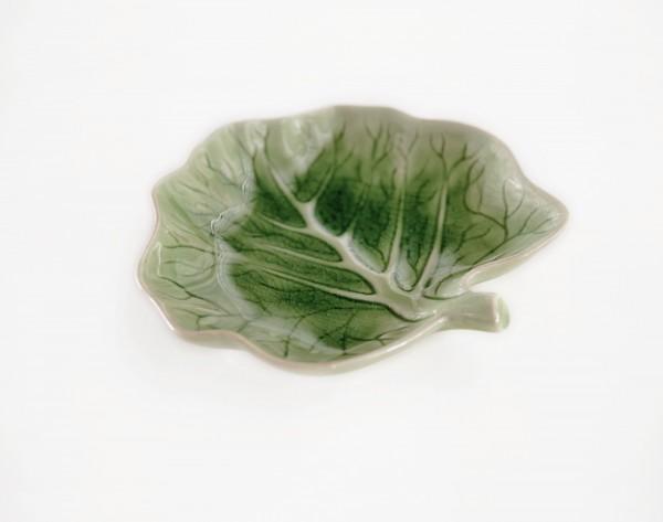 Schale 'Baum', grün, T 20 cm, B 20 cm, H 3 cm