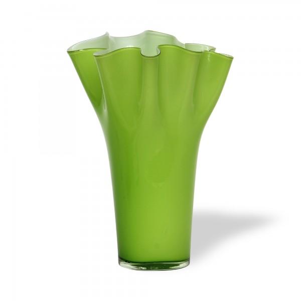 Glasschale 'Palourde', grün, Ø 23 cm, H 32 cm