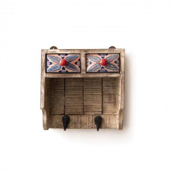 Kleine Hängekommode mit Haken, multicolor, L 12 cm, B 25 cm, H 25 cm