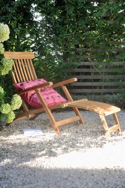 Deckchair, natur, L 155 cm, B 66 cm, H 100 cm