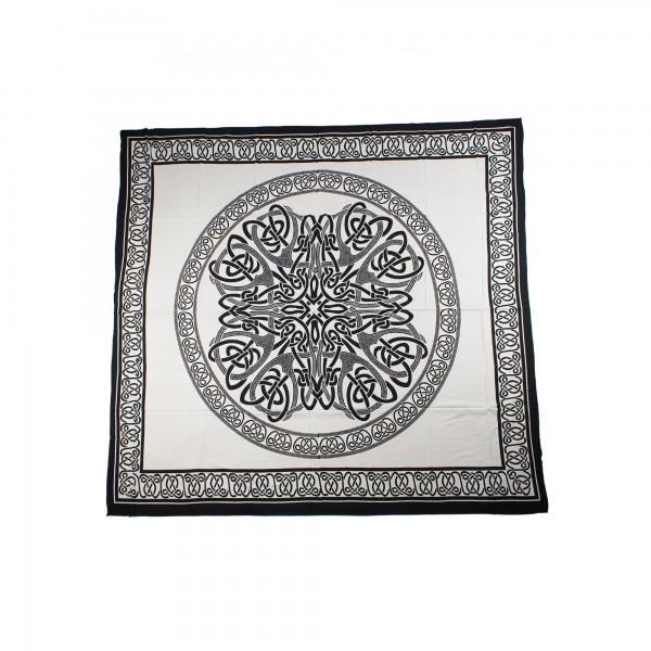 """Tagesdecke """"Dulari"""", aus 100% Baumwolle, schwarz/weiß, L 260 cm, B 220 cm"""