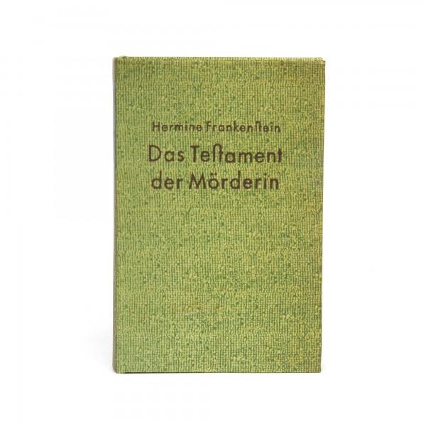 Buchhülle 'Das Testament der Mörderin', T 3 cm, B 12 cm, H 18 cm