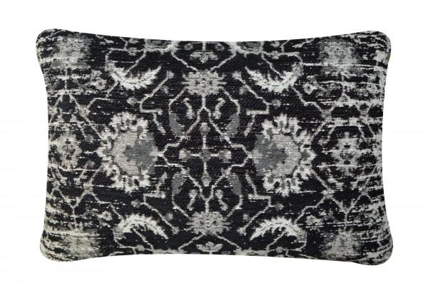 Kissen 'Jain', schwarz, cremeweiß, T 40 cm, B 60 cm