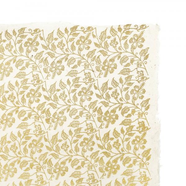 Geschenkpapier silbergrau Blumen, silbergrau, T 76 cm, B 51 cm