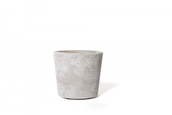 Übertopf 'Gent' S, grau, white-wash, Ø 8 cm, H 7 cm