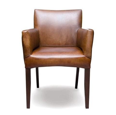 Ledersessel 'Cubo', braun, L 58 cm, B 59 cm, H 92 cm