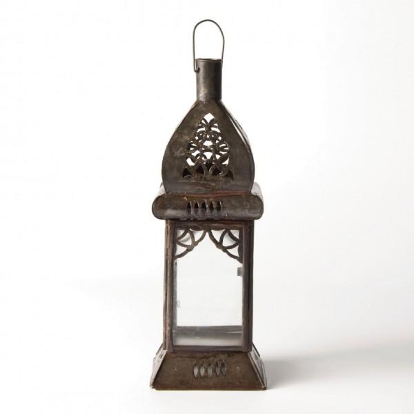 Laterne 'Carré', antik-rost, L 8 cm, B 8 cm, H 24 cm
