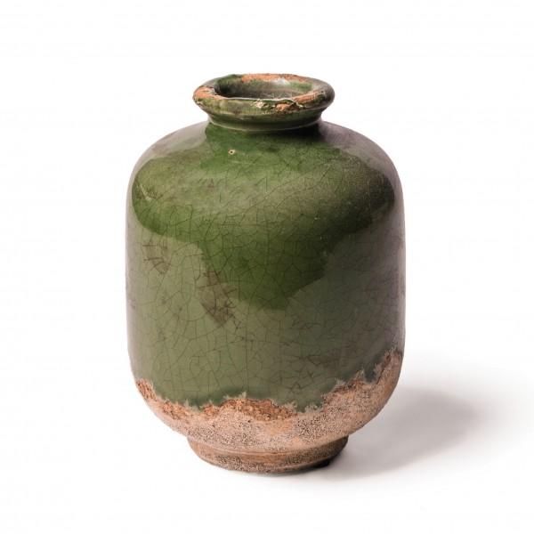 "Keramikvase ""Tulle L"", grün, Ø 11 cm, H 15 cm"