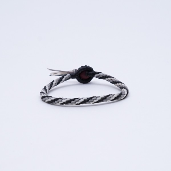 "Armband ""Colt"", handgefertigt, schwarz/grau"