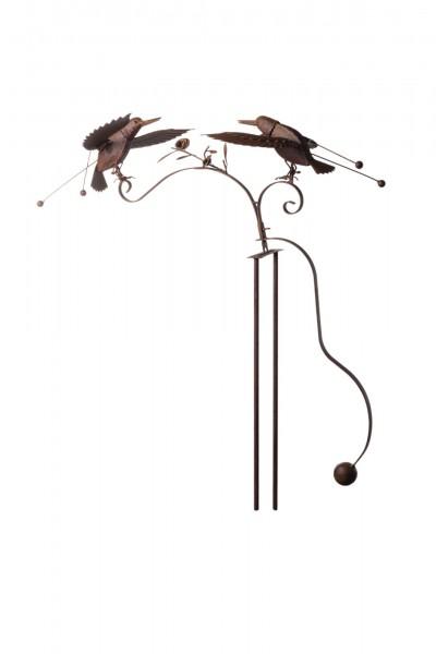 Kolibri 'Clemens und Claude', L 85 cm, B 31 cm, H 132 cm