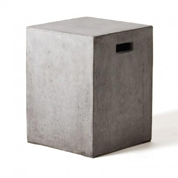 Hocker 'Tribeca', grau, H 47 cm, B 35 cm, T 35 cm