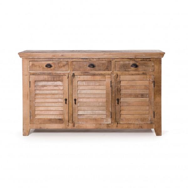 Sideboard 'Shutter', aus massivem Mangoholz, L 45 cm, B 160 cm, H 90 cm