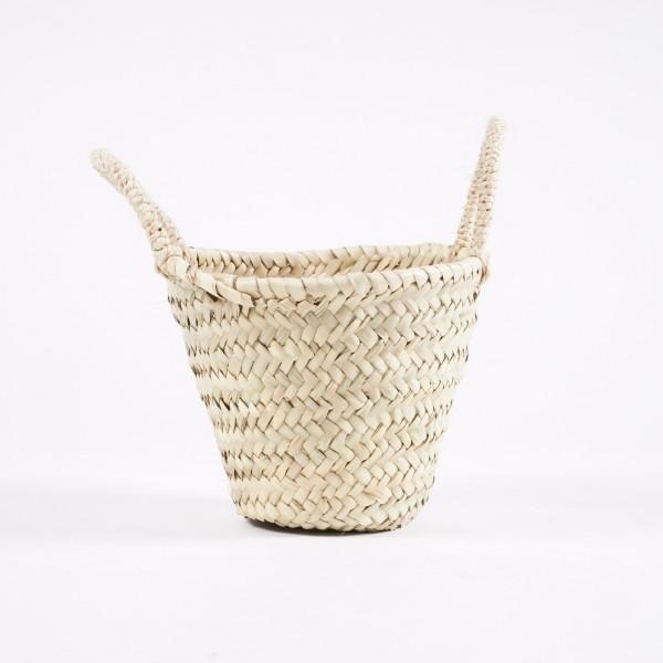Korb aus Palmgras, natur, Ø 20 cm, H 16 cm
