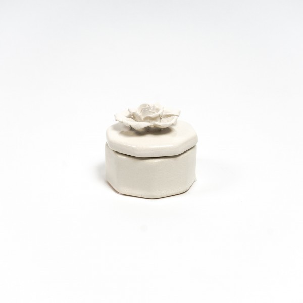 """Keramikbehälter """"Rosa fulvus"""", beige"""