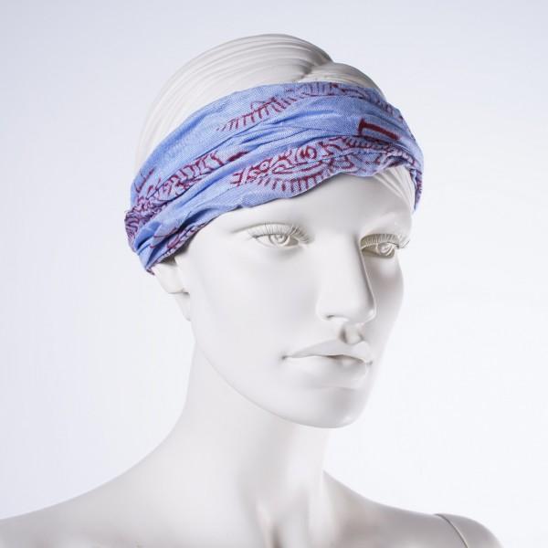 """Haarband """"New Orleans"""", aus 100% Baumwolle, hellblau"""