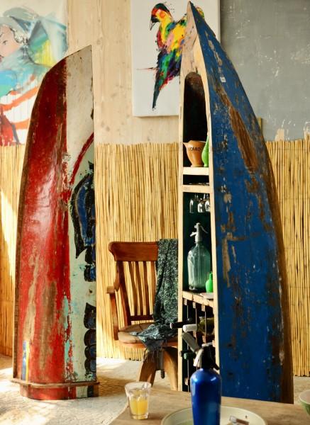 Weinregal, multicolor, H 210 cm, B 50 cm, L 50 cm