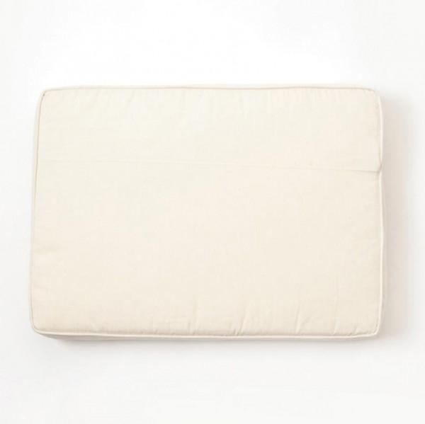 Sitzkissen für Hocker, weiß, L 35 cm, B 50 cm, H 8 cm