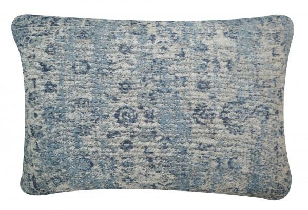 Kissen 'Yuva', cremeweiß, blautöne, T 40 cm, B 60 cm