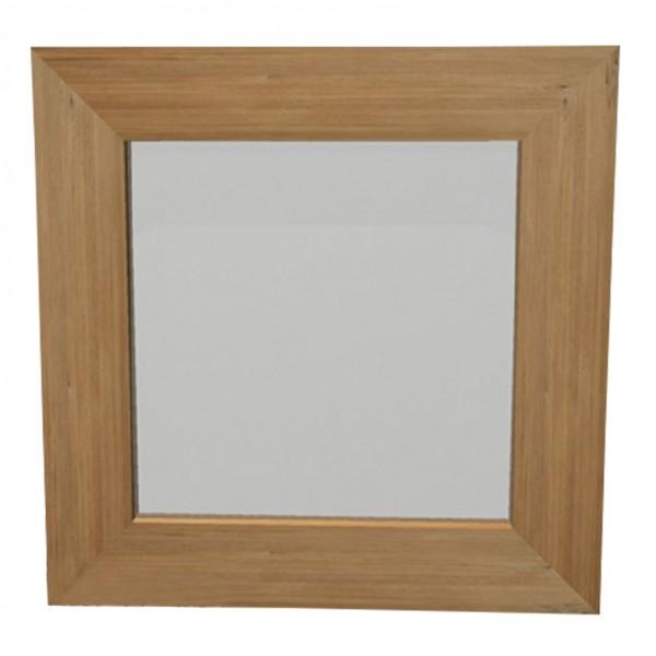 Holzspiegel, braun, B 50 cm, H 50 cm