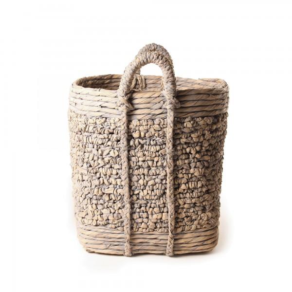 "Korb ""Mesa"" aus Wasserhyazinthe, Größe L, Ø 45 cm, H 55 cm"
