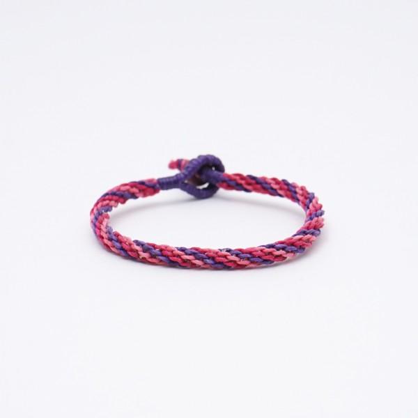 "Armband ""Jefferson"", handgefertigt, pink/lila"