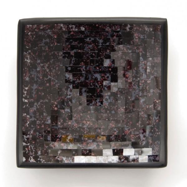 "Glasmosaikschüssel ""Blueberry"", lila/schwarz, L 20 cm, B 20 cm"